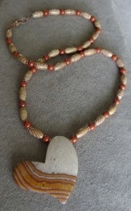 Banded Jasper Heart Pendant Necklace | Draped in Stone Jewelry | Scoop.it