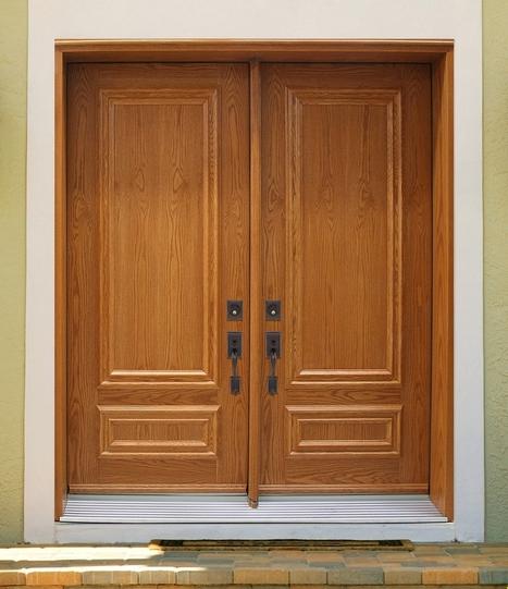 21 Model Pintu Utama Rumah Minimalis 2 Pintu 20