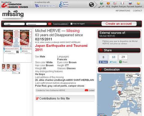 Missing.net veut aider à retrouver les victimes de catastrophes naturelles | Crisis communication | Scoop.it