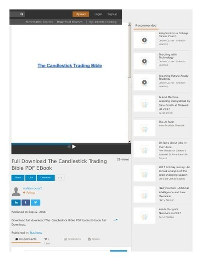 The Candlestick Trading Bible Free In Pdf Free Download Scoop It