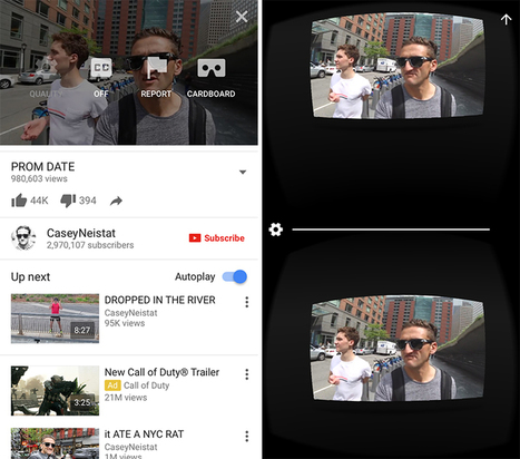 YouTube for iOS Now Supports Google Cardboard | iTunes U as a Channel of Open Educational Resources | Scoop.it