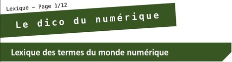 Le dico du numérique | DIGITAL NEWS & co | Scoop.it