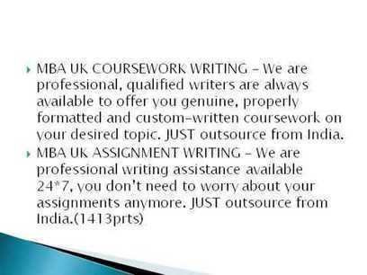 mba coursework writing