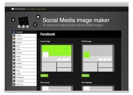 [Outil] Créer des images pour les réseaux sociaux avec Social Media Image Maker | Social Media Curation par Mon Habitat Web | Scoop.it
