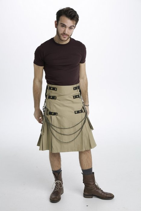 Men/'s Genuine Leather Utility Kilt with SPORRAN Choice of Size /& Length