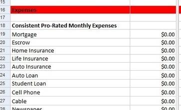 Free Google Docs Excel Personal Budget Pl - Google docs personal