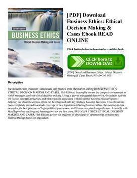 Business ethics concepts and cases pdf free dow business ethics concepts and cases pdf free download fandeluxe Image collections