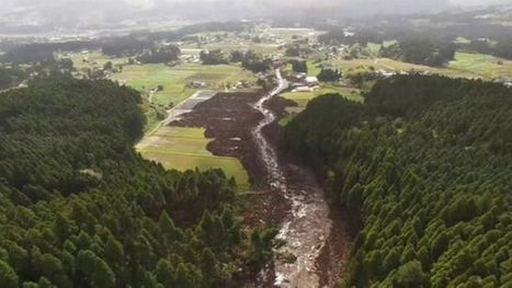 Japan earthquake: Aerial footage show damaged landscape - BBC News | Geography in the classroom | Scoop.it