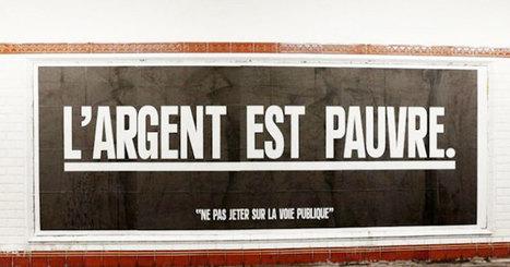 Cet artiste remplace les publicités dans le métro par des phrases qui ... - Daily Geek Show   Socialart   Scoop.it