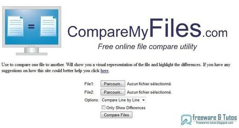 CompareMyFiles : une application en ligne pour chercher les différences entre 2 textes | MOOC Francophone | Scoop.it