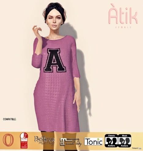 1f6f0abfa5109 Pink Long Dress January 2019 Group Gift by AtiK | Teleport Hub - Second  Life Freebies
