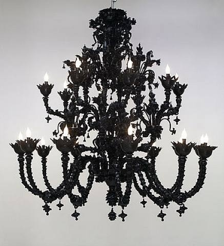 Murano glass chandelier in venetian glass home of authentic murano speak of me as i am mr wilson just like his black murano glass chandelier aloadofball Choice Image