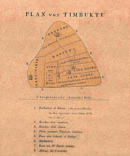 Africa Mali : Old Map of Timbuktu - SocioLingo Africa   African Cultural News   Scoop.it