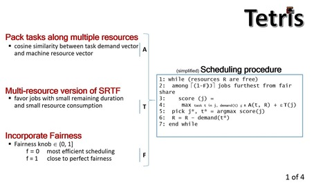 Tetris: Multi-Resource Packing for Cluster Schedulers | EEDSP | Scoop.it