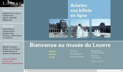 Une archéologie des premiers sites web de musées en France | MyMuseums | Scoop.it