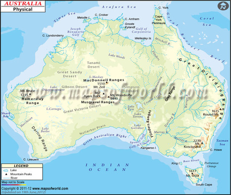 Physical Map of Australia\' in maps | Scoop.it