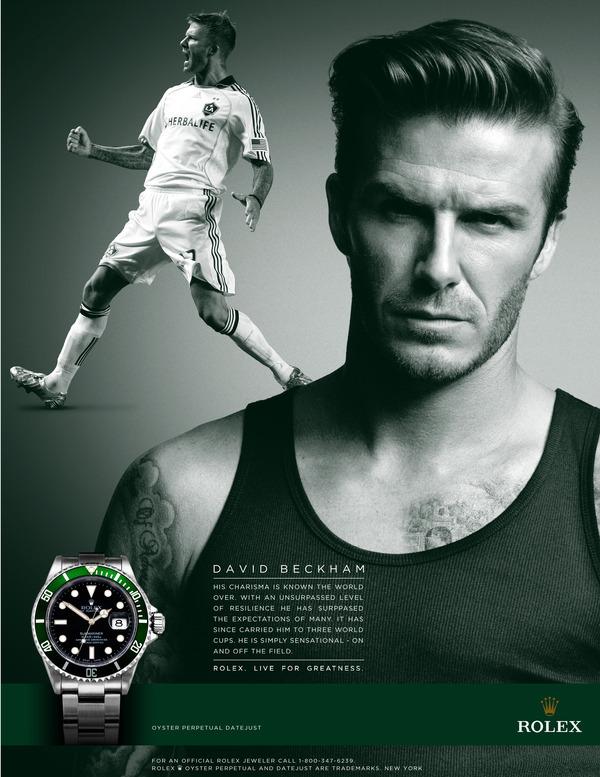david beckham ad for rolex watches
