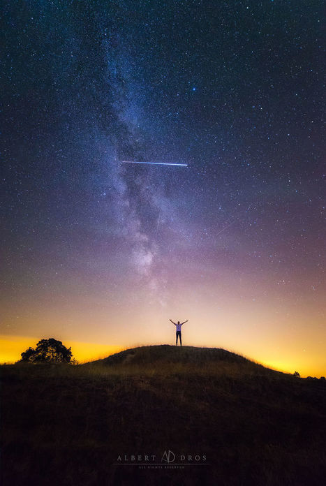 I Accidentally Captured The international space station While Shooting My Friend #photo #Perseiden storms | Design Ideas | Scoop.it