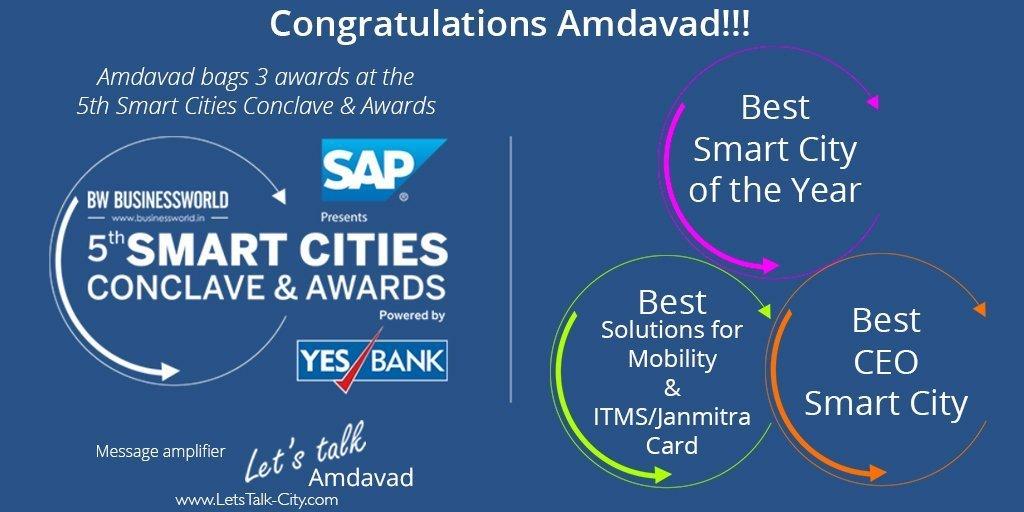 Congratulations Amdavad!!! Ahmedabad bags 3 awa