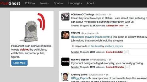 Postghost. Retrouvez les tweets effacés par leurs auteurs – Les outils de la veille | Going social | Scoop.it