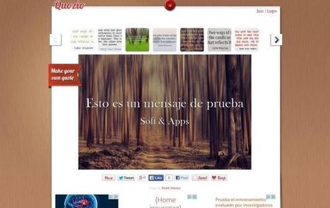 Quozio: crea imágenes con citas en texto para compartir | Eskola  Digitala | Scoop.it