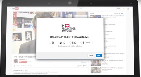 YouTube's New Donation Cards Help Video Creators Raise Money For Charities | Great Ideas for Non-Profits | Scoop.it