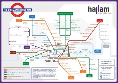 Digital Marketing Tube Map – A Guide to Internet Marketing | Social Media & E-learning | Scoop.it