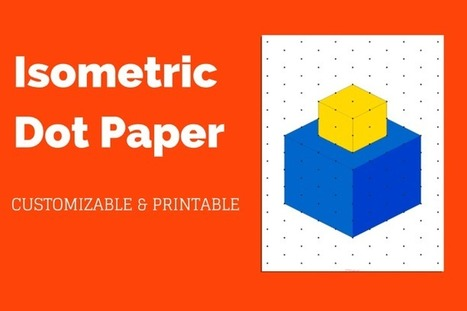 Isometric Dot Paper Hand Painted Seamless Pattern With Blue Painted