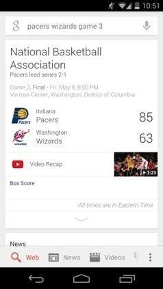Google Search adds NBA video recaps, more leagues to join in the future | Android Discussions | Scoop.it