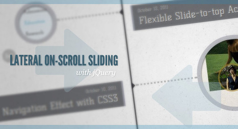 Lateral On-Scroll Sliding with jQuery | Slideshow & Carousel Jquery | Scoop.it