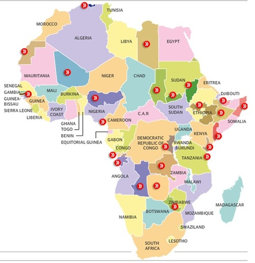 Map Of Africa Geography.The Separatist Map Of Africa Geography Education