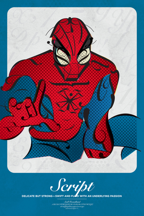 Superhero Typographic Classifications | Graphic designs | Scoop.it