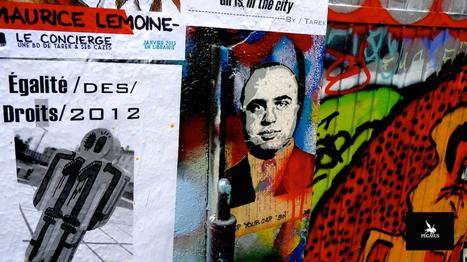 Collages, pochoirs et peinture au Frigo :: Juin 2014 à Paris | The art of Tarek | Scoop.it