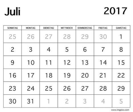 Juli 2017 Kalender\' in Printable Calendar   Scoop.it