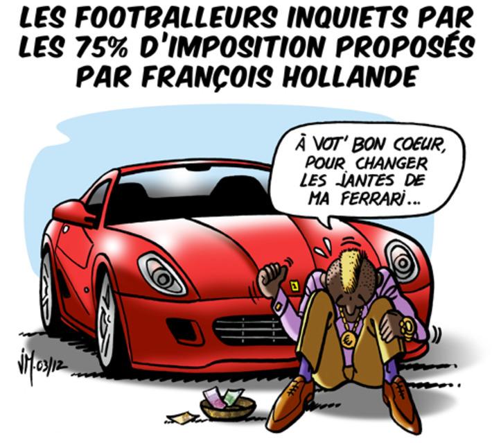 Les Footballeurs inquiets par les 75% d'imposition   Baie d'humour   Scoop.it