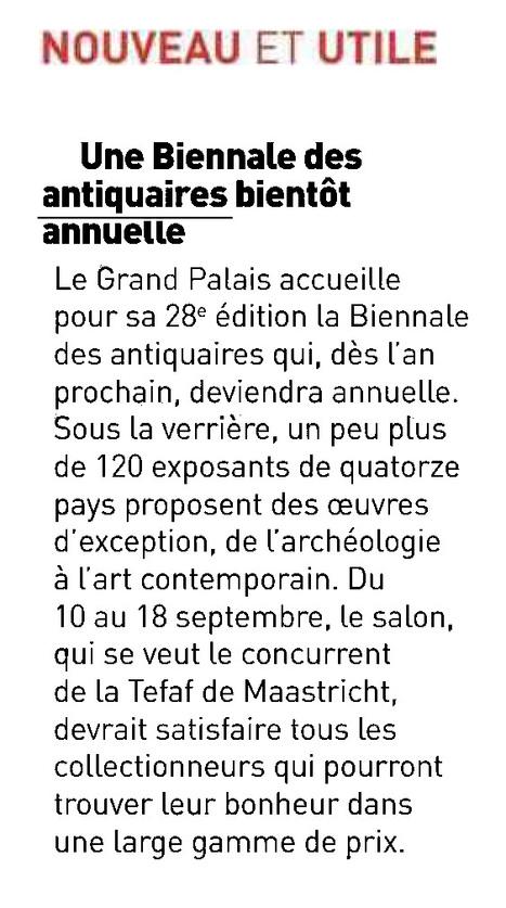 Une Biennale des antiquaires bientôt annuelle   La Biennale - Paris   Scoop.it