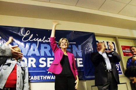photo: Elizabeth Warren with Speaker DeLeo in Winthrop Saturday. | Massachusetts Senate Race 2012 | Scoop.it