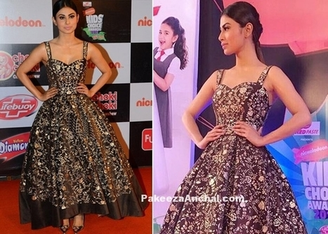 Mouni Roy in Black Shimmering Gown by Nalandda Bhandari, #ActressInBlackDresses, #ActressInGowns, #CelebrityDresses, #DesignerWear, #IndianFashionDesigners, #MouniRoy, #NickelodeonKidsChoiceAwards,... | Indian Fashion Updates | Scoop.it