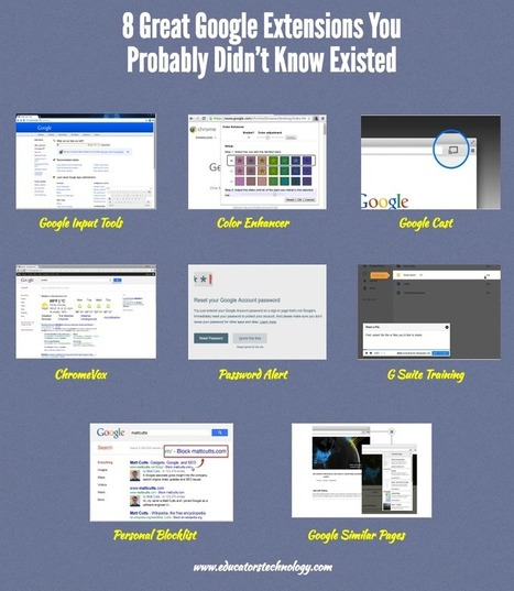 8 Great Google Extensions You Probably Didn't Know Existed | Pedalogica: educación y TIC | Scoop.it