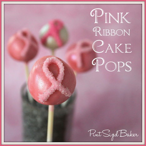Pint Sized Baker: Pink Ribbon Cake Pops | Cake pop e dintorni | Scoop.it