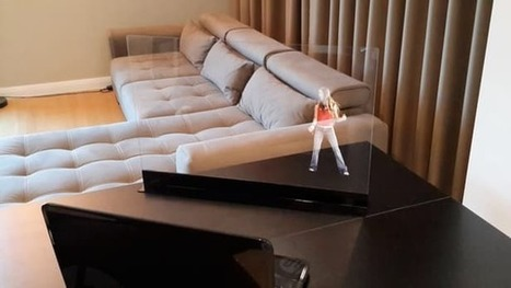 "Transparent screen displays free-floating ""holograms"" in your home 