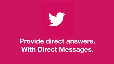 Twitter se met aux chatbots et messages de bienvenue ! | RelationClients | Scoop.it