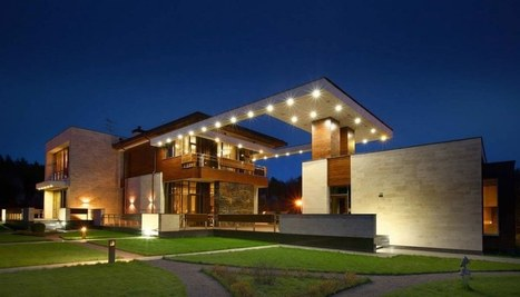 Sculpturale maison bois béton contempora...