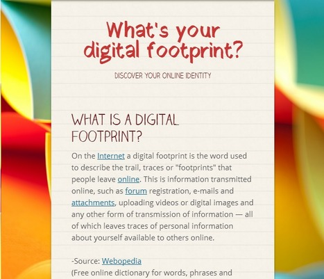 Infographic flyer: What's your digital footprint? | emerging learning | Scoop.it