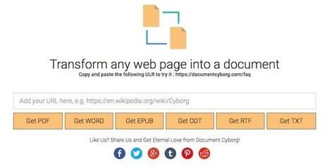 Herramienta para transformar cualquier página web en PDF, Word, TXT, EPUB, ODT o RTF | Cajón de sastre Web 2.0 | Scoop.it