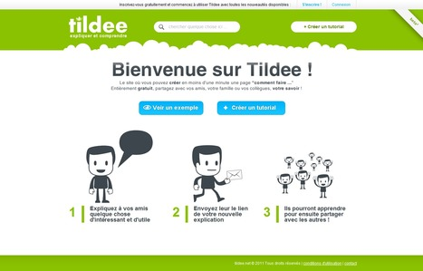 Tildee : Créer un tutoriel en ligne en quelques minutes | 21st Century Tools for Teaching-People and Learners | Scoop.it