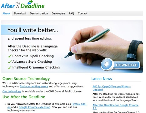 After the Deadline - Spell, Style, and Grammar Checker for WordPress, Firefox, TinyMCE, jQuery, and CKEditor | ICT Resources for Teachers | Scoop.it