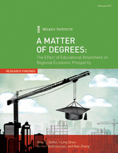 A Matter of Degrees: The Effect of Educational Attainment on Regional Economic Prosperity | Cross Border Higher Education | Scoop.it