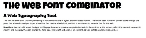 The Web Font Combinator & Typography Tool | Web y grafico | Scoop.it