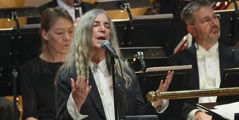 Remise des Prix Nobel sans Bob Dylan mais avec Patti Smith - Culture Box | Bruce Springsteen | Scoop.it